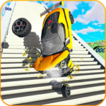 Car Crash Beam  Drive Sim: Death Stairs Jump Down APK (MOD, Unlimited Money) 1.3