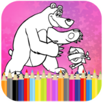 Coloring Book For Kids : Little Girl and Bear APK (MOD, Unlimited Money) 1.14