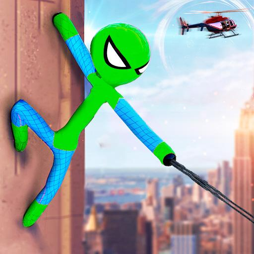 Flying Stickman Rope Hero Grand City Crime APK (MOD, Unlimited Money) 2.1