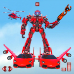 Flying Car Transform Robot War : Moto Robot Games APK (MOD, Unlimited Money) 1.0.7