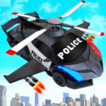 Flying Police Helicopter Car Transform Robot Games APK (MOD, Unlimited Money) 20