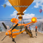 Flying Taxi Simulator: Air Balloon Taxi Driving 3D APK (MOD, Unlimited Money) 1.0.3