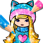 Girls Coloring Book for Kids Glitter APK (MOD, Unlimited Money) 1.1.6.1