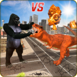 Monster Dino Vs King Kong-City Rampage Simulator APK (MOD, Unlimited Money) 1.0.3