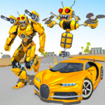 Bee Robot Car Transformation Game: Robot Car Games APK (MOD, Unlimited Money) 1.30