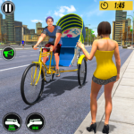 Bicycle Tuk Tuk Auto Rickshaw : New Driving Games APK (MOD, Unlimited Money) 1.6