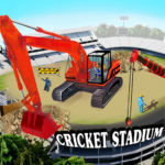Cricket Stadium Builder Construction Crane Game 3D APK (MOD, Unlimited Money) 1.3