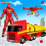 Flying Oil Tanker Robot Truck Transform Robot Game APK (MOD, Unlimited Money) 13