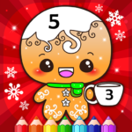 Happy Kids Christmas Coloring Book By Numbers APK (MOD, Unlimited Money) 2.4