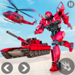 Helicopter Transform War Robot Hero: Tank Shooting APK (MOD, Unlimited Money) 1.1
