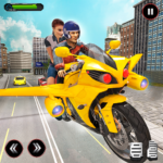 Real Flying Bike Taxi Simulator: Bike Driving Game APK (MOD, Unlimited Money) 3.5