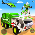 Flying Garbage Truck Robot Transform: Robot Games APK (MOD, Unlimited Money) 28