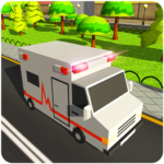 Blocky US Fire Truck & Army Ambulance Rescue Game APK (MOD, Unlimited Money)