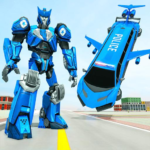 Flying Limo Robot Car Transform: Police Robot Game APK (MOD, Unlimited Money) 1.0.10