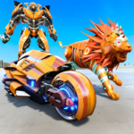 Lion Robot Transform Bike War : Moto Robot Games APK (MOD, Unlimited Money) 2.1