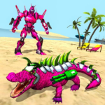 Real Robot Crocodile Simulator- Robot transform APK (MOD, Unlimited Money) 1.0.22