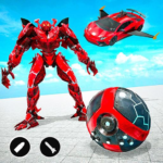 Red Ball Robot Car Transform: Flying Car Games APK (MOD, Unlimited Money) 1.3.8