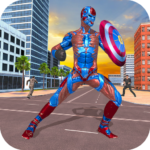 Superhero Captain Robot Games:Black Hole Rope Hero APK (MOD, Unlimited Money) 1.9
