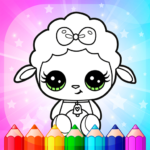 Flower Magic Color-kids coloring book with animals APK (MOD, Unlimited Money) 3.9