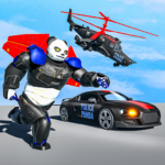 Flying Police Panda Robot Game: Robot Car Game APK (MOD, Unlimited Money) 1.0.5
