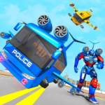 Flying Bus Robot Transform War- Police Robot Games APK (MOD, Unlimited Money) 1.15