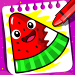 Fruits Coloring book & Food Drawing book Kids Free APK (MOD, Unlimited Money) 1.4