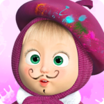 Masha and the Bear: Free Coloring Pages for Kids APK (MOD, Unlimited Money) 1.6.9
