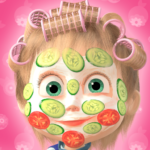 Masha and the Bear: Hair Salon and MakeUp Games APK (MOD, Unlimited Money) 1.2.4
