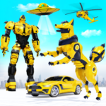 Wild Fox Transform Bike Robot Shooting: Robot Game APK (MOD, Unlimited Money) 21